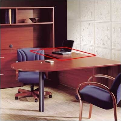 Hyperwork 29 H x 48 W Desk Bridge Finish: Windsor Cherry