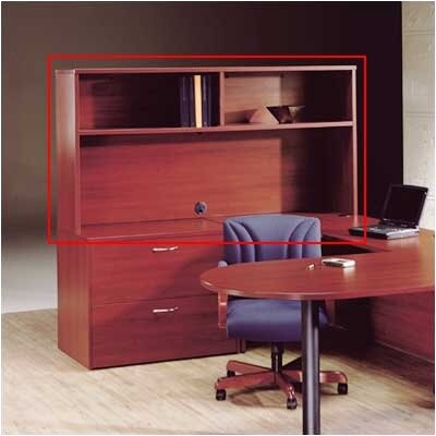 "High Point Furniture Hyperwork 36.5"" H x 72"" W Desk Hutch - Finish: Windsor Cherry, Pull: Chrome at Sears.com"