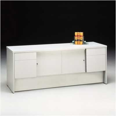 "Bravo Panel 72"" W Storage Credenza Finish: Walnut"