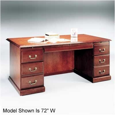 Legacy Executive Desk with 6 Drawers Top: Wood Veneer Top with Without Molding Product Picture 1153