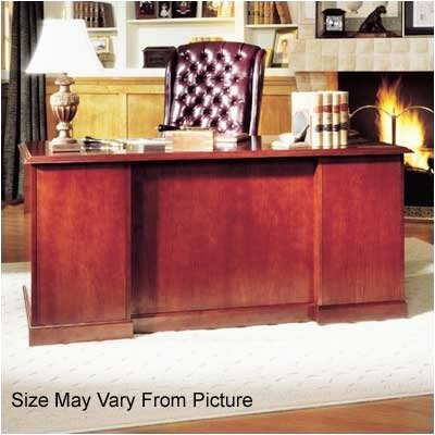 Legacy Single Pedestal Veneer Executive Desk Pedestal: Right, Top: Wood Veneer Top with Without Mold Product Picture 1153