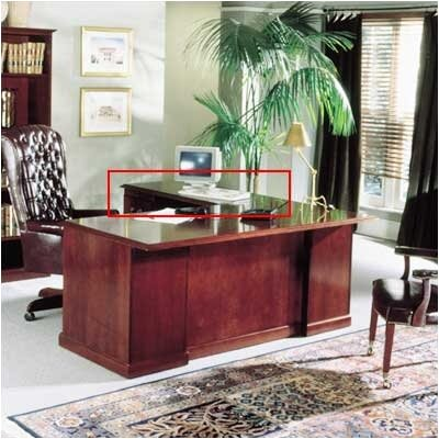 Legacy 48W Desk Height Veneer Return Pedestal: Right, Top: Wood Veneer Top Without Molding Product Picture 747