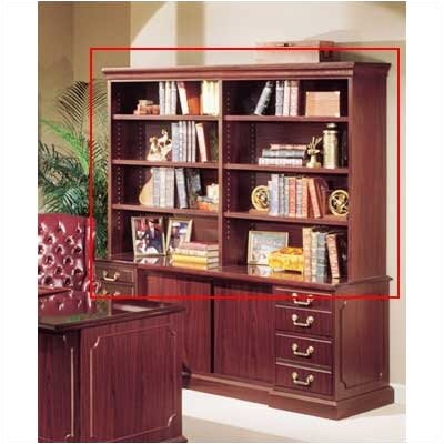 Bedford 48 H x 72 W Desk Double Hutch Finish: Mahogany Product Image 1029