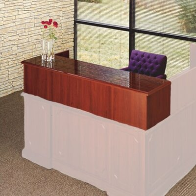 Bedford 14 H x 66 W Desk Reception Screen Finish: Mahogany Product Image 1740