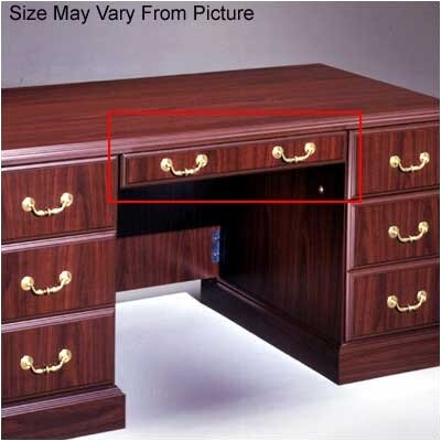 Wyndham Series - 33 W x 18 D Desk Drawer Finish: Mahogany