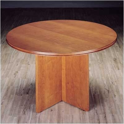 Contempo 4' Circular Conference Table Finish: Honey Cherry Product Image 6