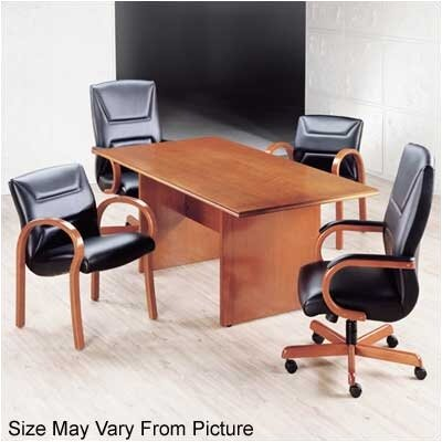 Contempo Rectangular Conference Table Finish: Honey Cherry, Size: 6' L Product Picture 747
