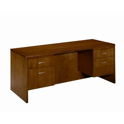 Forte Executive Desk with 2 Right and 2 Left Drawers Finish: Honey Cherry Product Picture 1438