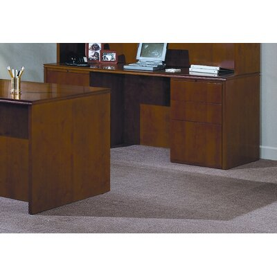Forte 72 W Full Double Pedestal Computer Desk - 4 Box/ 2 File Drawers Finish: Honey Cherry Product Picture 1153
