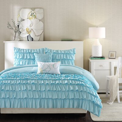 Intelligent Design Waterfall Comforter Set - Size: Full / Queen, Color: Blue at Sears.com