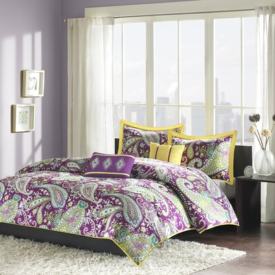 Cairns Duvet Cover Set Size: Twin / Twin XL, Color: Purple