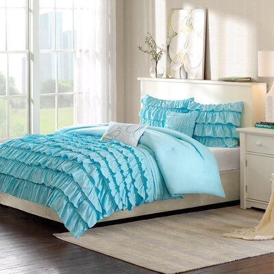 Eladia Comforter Set Size: Full / Queen, Color: Blue