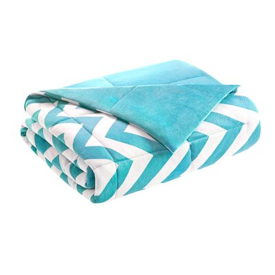 Chevron Throw Blanket Color: Teal