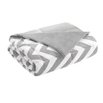 Chevron Throw Blanket Color: Gray