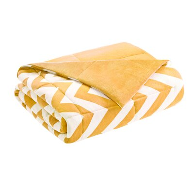 Chevron Throw Blanket Color: Yellow
