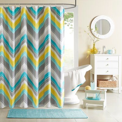 Elise Shower Curtain Color: Blue