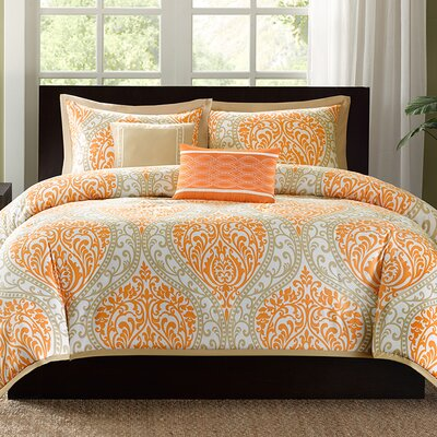 Charlisa Duvet Cover Set Size: Full / Queen, Color: Aqua