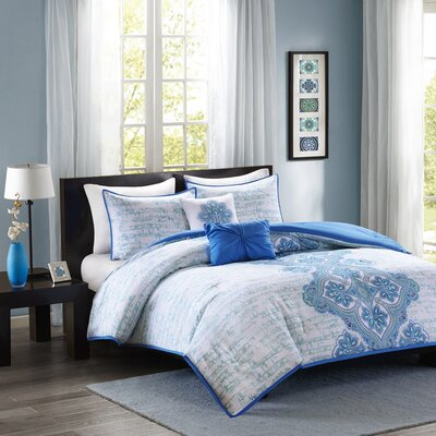 Avani Comforter Set Size: Full / Queen, Color: Blue