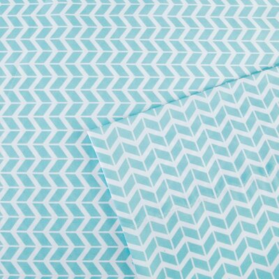 Chevron Sheet Set Size: Queen, Color: Aqua