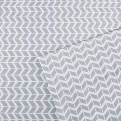 Chevron Sheet Set Size: Twin, Color: Grey