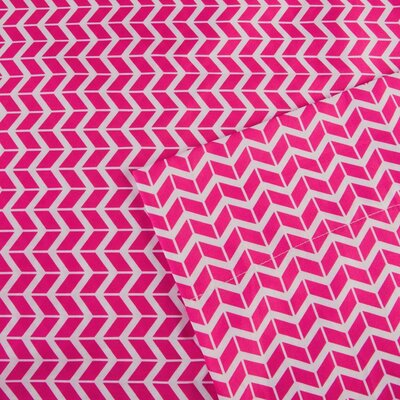 Chevron Sheet Set Size: Twin, Color: Pink