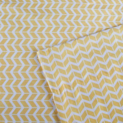 Chevron Sheet Set Size: Queen, Color: Yellow