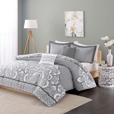 Arvizu Comforter Set Size: Full / Queen, Color: Gray