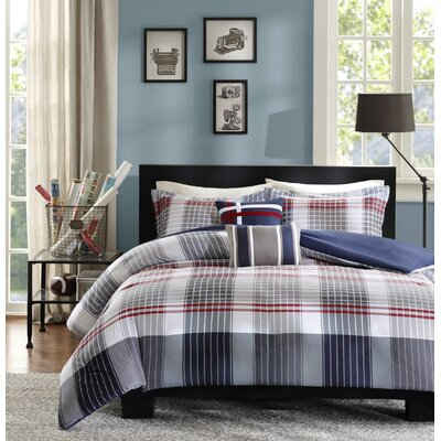 Robin Duvet Cover Set Size: Full / Queen