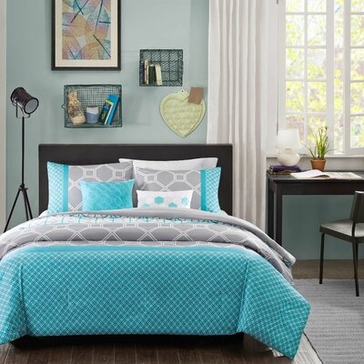 Clara 5 Piece Duvet Cover Set Size: Twin / Twin XL