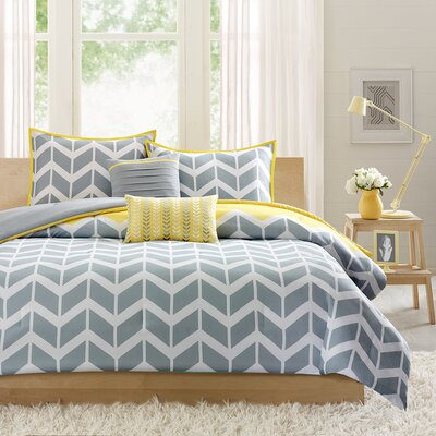 Quinten Comforter Set Color: Yellow, Size: Twin / Twin XL