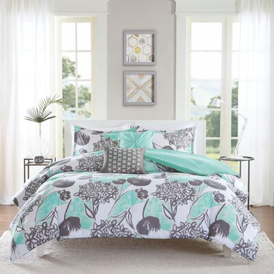 Marie Comforter Set Size: Twin / Twin XL, Color: Aqua