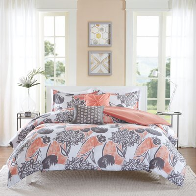 Marie Comforter Set Size: Twin / Twin XL, Color: Coral