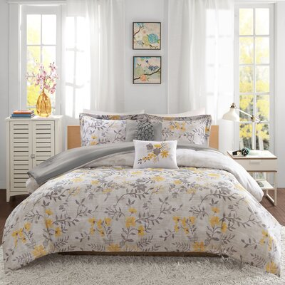 Florence Comforter Set Size: Full/Queen, Color: Yellow