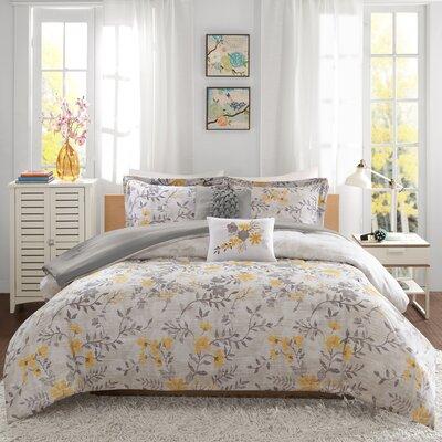 Florence Comforter Set Size: Twin/TXL, Color: Yellow