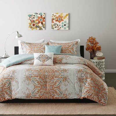 Bettie Comforter Set Size: Full/Queen, Color: Orange