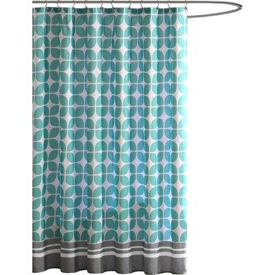 Lita Shower Curtain Color: Aqua