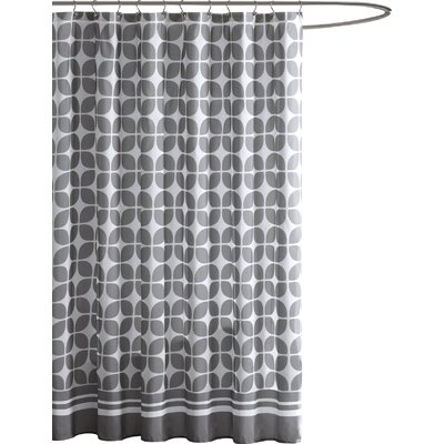 Lita Shower Curtain Color: Grey