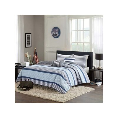 Paul Coverlet Set Size: Twin / Twin XL, Color: Teal / Grey