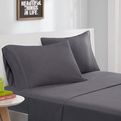 Dinorah Knit Sheet Set Color: Charcoal