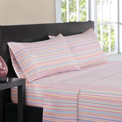 Multi-Stripe Sheet Set Size: King, Color: Pink