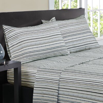 Multi-Stripe Sheet Set Size: Full, Color: Natural
