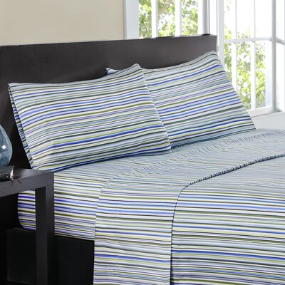 Multi-Stripe Sheet Set Size: King, Color: Blue