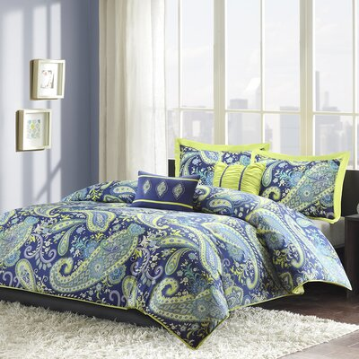 Cairns Duvet Cover Set Size: Full / Queen, Color: Lime Green