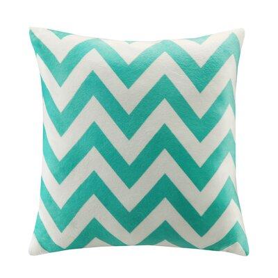 Chevron Throw Pillow Color: Teal