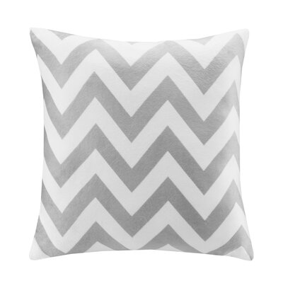 Chevron Throw Pillow Color: Grey
