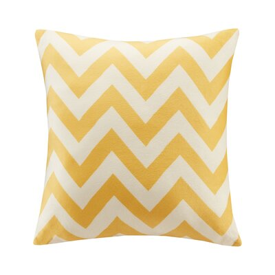 Chevron Throw Pillow Color: Yellow