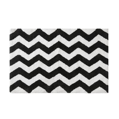 Belser Tufted Bath Rug Color: Black