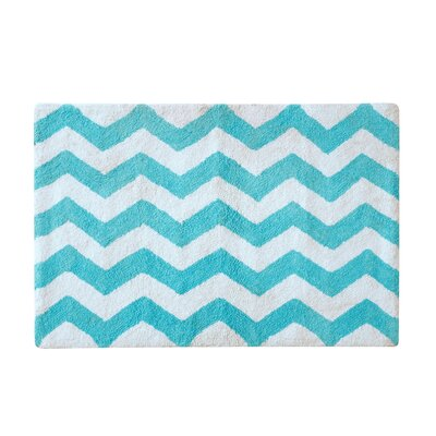 Belser Tufted Bath Rug Color: Aqua