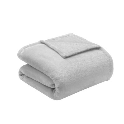 Microlight Plush Blanket Size: Full / Queen, Color: Grey