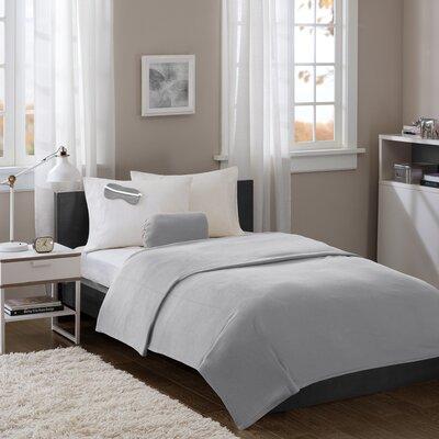 Twin XL Micro Fleece Blanket with Eyemask Color: Grey